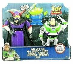 Disney PIXAR Toy Story Buzz Lightyear vs Emperor Zurg Action Figures
