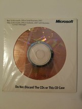New Genuine Microsoft Office 2007 Small Business Edition & Office Outloo... - $48.95