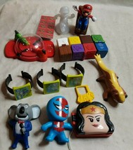 Lot Of 11 Loose Mc Donalds Happy Meal Toys Mario, Just Dance, Hippo Game & More - $14.36