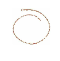 "Metal Rose Gold Color Figaro 18"" Necklace - 2 pieces - $4.49"