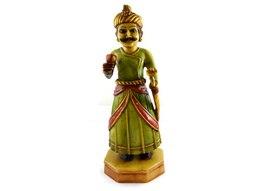 Handmade Hand painted Indian Village Man Resin Figurine Sculpture - $146.99