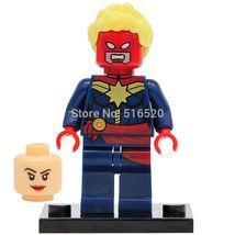 Captain Marvel Classic Figures Minifigure Super hero Building Blocks Gift toys - $4.99