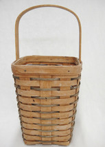 Longaberger Large Peg Basket 8x6x6 Vintage 1992 Faded Primitive Repurpose DIY - $12.86