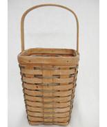 Longaberger Large Peg Basket 8x6x6 Vintage 1992 Faded Primitive Repurpos... - $12.22