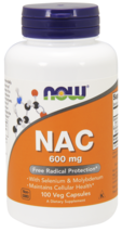 NAC N-Acetyl Cysteine 600 mg, Selenium, Molybdenum Now Foods 100 Caps - $19.50