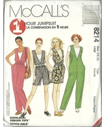 Ccall s sewing pattern 8214 misses womens t shirt jumpsuit romper size 16 18 uncut  1  thumbtall