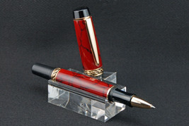 Handmade Fountain Pen or Rollerball (Olympian Elite), TruStone Red Jasper - $55.99