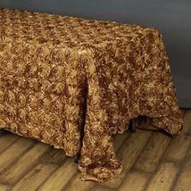 "Efavormart 90""x156"" Wholesale Rectangle Table Cover Gold Grandiose Roset... - $44.08"