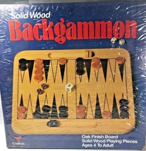 NEW Cardinal Backgammon game solid oak wood FREE SHIPPING - $21.46
