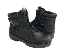 UGG TIOGA HIKER BLACK WATERPROOF LEATHER COMBAT BOOTS US 7.5 / EU 38.5 /... - $129.97