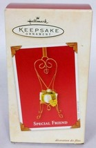 Hallmark Keepsake Christmas Ornament Special Friend Chair With Gift 2003 - $16.83