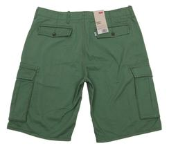 BRAND NEW LEVI'S MEN'S PREMIUM COTTON RELAXED FIT CARGO SHORTS GREEN 124630165 image 3