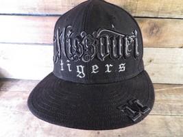 Missouri TIGERS Mizzou Black New Era Fitted Size 7 3/8 Adult Cap Hat - $19.79