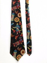 Fratello Firefighter Fire Truck Hydrant Vintage Novelty Tie Necktie Mens  image 2