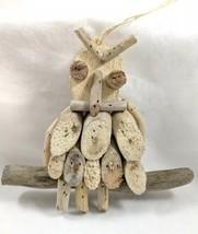 Handmade Driftwood Owl Ornament Decor NEW - $16.99