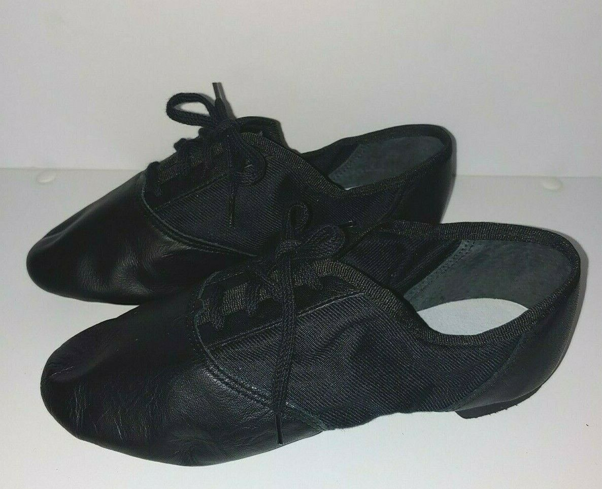 Capezio 358C Black Lace Split-Sole Jazz Shoe Child Size 1M 1 M  image 2