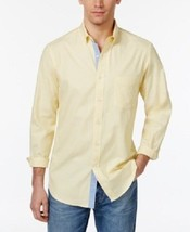 Club Room Mens Solid Core Oxford Cotton Button Front Shirt Magnolia L - $17.81