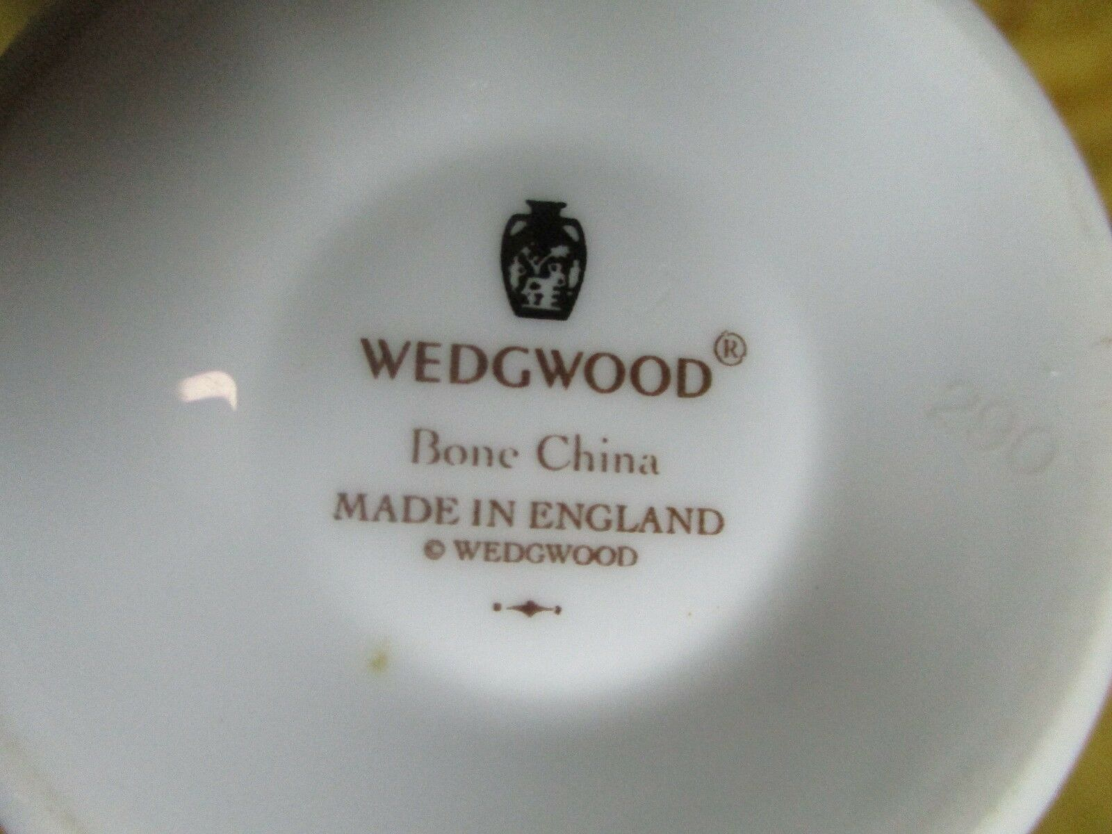 Wedgwood Signet  China  Platinum Cup and Saucer  1994