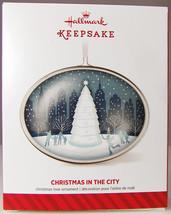 CHRISTMAS IN THE CITY 2014 Hallmark Christmas Holiday Ornament NIB Snow ... - $9.50