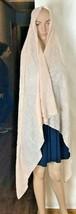 "Stella & Dot Woman's Sequinned Scarf Shawl Sarong 64"" x 42.5"" Fleshy Pin... - $23.47"