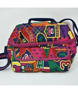 Lily Bloom Lunch Bag Insulated Cheer Cheerleader Pattern EUC - $13.98