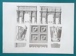 ROME Arch of Severus & Constantine Italy - SUPERB 1905 Espouy Heliogravu... - $22.95