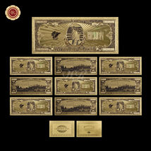 10pcs Big Value US America $1 Billion Dollar Banknotes 99.9 Gold Polyest... - $37.73