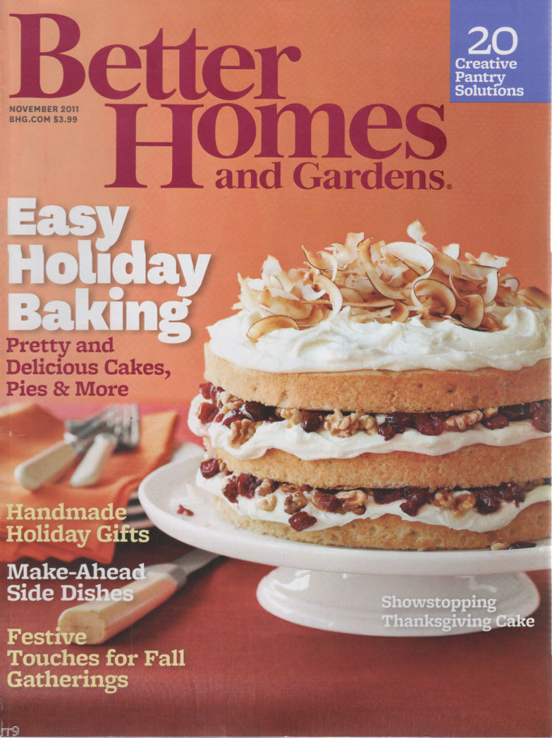 Primary image for Better Homes and Gardens November 2011 Easy Holiday Baking