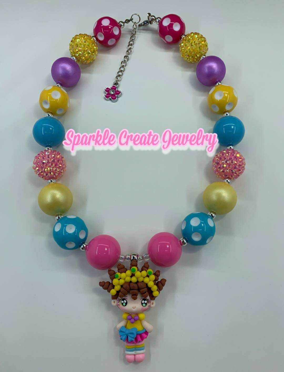 Fancy Nancy Clay Chunky Necklace