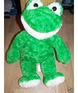 Build A Bear Workshop BAB Plush Green Frog Stuffed Animal EUC - $22.00