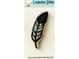 Crackerbox Palace Feather Rubber Cling Stamp image 1