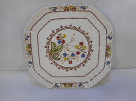 "Vintage SPODE'S COWSLIP  Square Luncheon Plate 8 5/8"" Copeland Spode Eng... - $39.55"