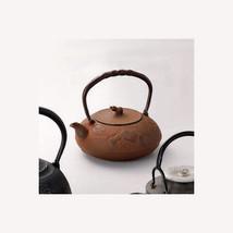 Nanbu Tetsubin - Gourd (Rust color) 1.2 Liter - Japanese cast iron teapo... - $568.88