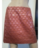 J Crew Collection Jacquard Brocade Quartz Pink Burnt Orange Metallic Sil... - $37.99