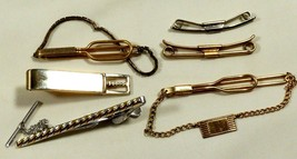 Antique Vintage lot of 6 Gold filled Swank tie bar clasp pins - $44.55