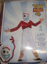 Disney Toy Story 4 Forky Jumpsuit Mask Halloween Costume Small S/P 4-6 Boys - $42.95