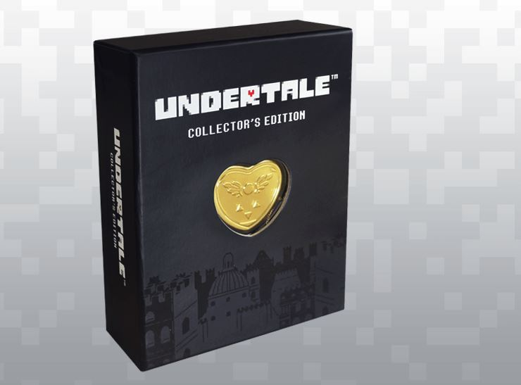 Undertale Collector's Edition PS4 Sony Playstation 4 + 14k Gold Music Box Locket