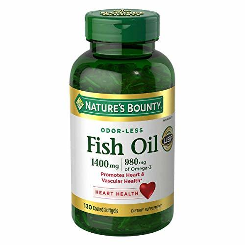 Nature's Bounty Fish Oil 1400 mg 130 Softgels (Pack of 4) - $125.99