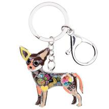 Chihuahua Dog Key Chain 6 Beautifull Color - $9.99