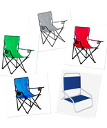 Quad Folding Chairs and Copa Sun Steel Frame Outdoors Camping Fishing Ev... - $27.99