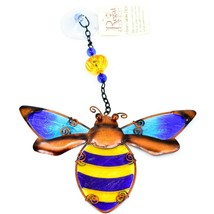 Regal Art & Gift Hand Painted Metal Glass Bumblebee Bee Sun Catcher Suncactcher image 1
