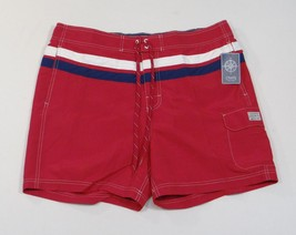 Chaps Red Board Shorts Swim Trunks Boardshorts Brief Liner Mens NWT - $33.74