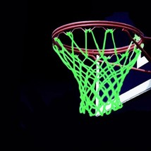 Basketball Net Outdoor Nylon New Glowing Light Shooting Training Green L... - $9.39