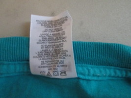 Mens Shirt Large Jerzees Teal w/ Gray Emblem TF435/ALS - $13.59 CAD