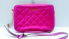 Michael kors crossbody bag used Pink Retired Nylon Nice NS-1605 - $46.54