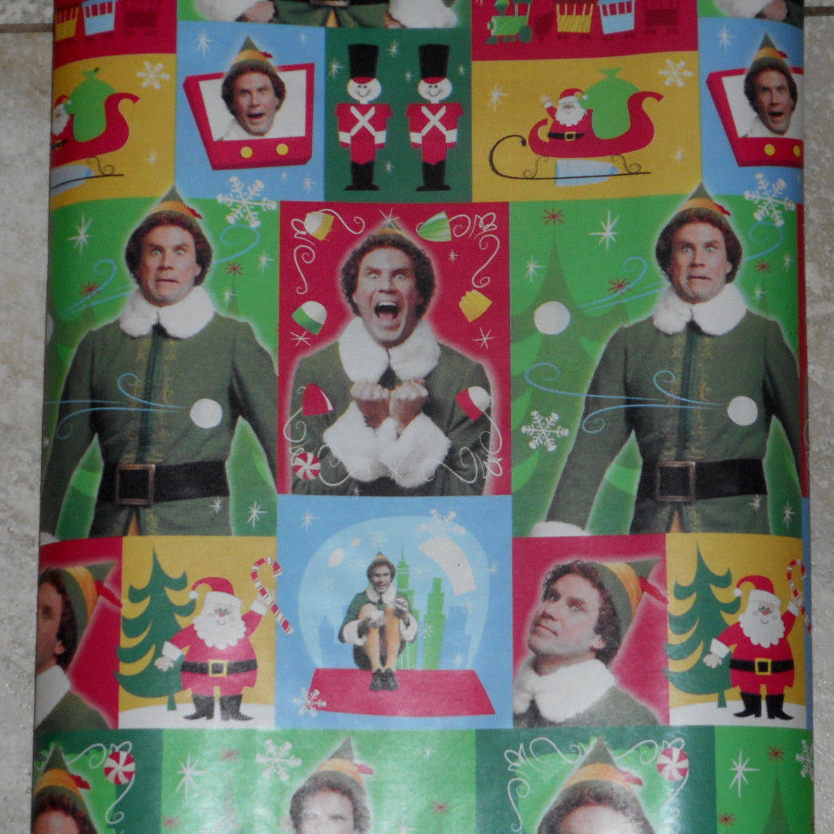 Primary image for American Greetings Elf Movie Will Ferrell Christmas Wrapping Paper 20 sq ft Roll