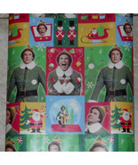 American Greetings Elf Movie Will Ferrell Christmas Wrapping Paper 20 sq... - $9.75