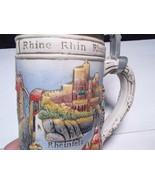 Vintage GERZ Germany German Lidded Beer Stein ~~ Rhine Rhin Rhein - $13.99