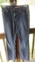 girls jeans size 14 flare with music designs WAIST 27 INSEAM 29 with des... - $12.95