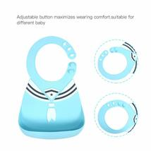 Silicone Baby Bibs for Babies & Toddlers Waterproof with Food Catcher (2pc) image 6